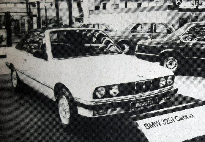 BMW 325i kabrio, bavarska mogućnost za vožnju bez gornjeg dela, pripada istom paketu kao varijante 325ii i 325iX (sa pogonom na sva četiri točka). Karakteristika ove marke automobila je da i kod nas ima mnogo odanih privrženika i kupaca.