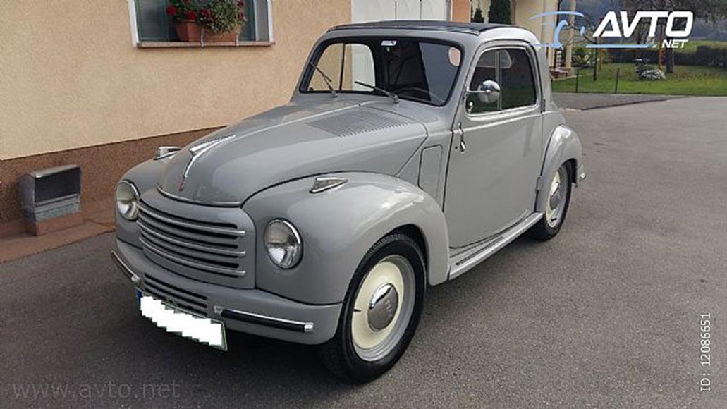 1949 Fiat 500c Topolino 13500 Autoslavia